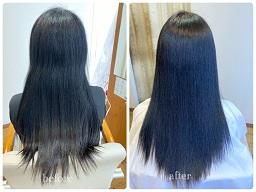 強いくせ毛を縮毛矯正したビフォーアフター