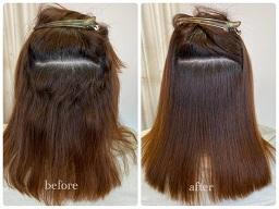 強いくせ毛を縮毛矯正した内側のビフォーアフター