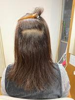 縮毛矯正の前・内側